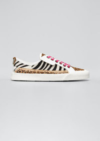 Jimmy Choo Impala Animal-Print Calf Hair Low-Top S