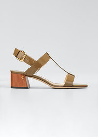 Jimmy Choo Jin 45mm Block-Heel Sandals