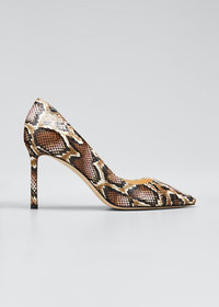 Jimmy Choo Romy Elaphe Snake Stiletto Pumps