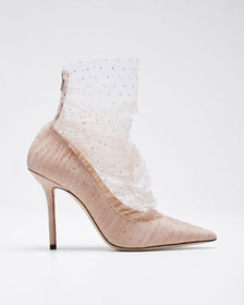 Jimmy Choo Lavish Glitter Tulle Pumps