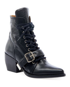 Chloe Rylee Lace-Up Leather Booties