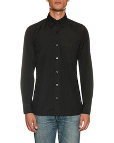 TOM FORD Men's Point-Collar Sport Shirt with Pocke