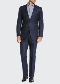Ermenegildo Zegna Men's Two-Piece Midnight Plaid S