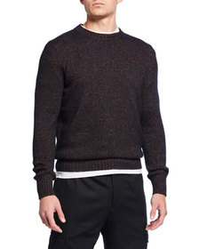 Ermenegildo Zegna Men's Heathered Crewneck Sweater