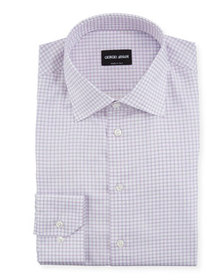 Giorgio Armani Men's Graph-Check Dress Shirt