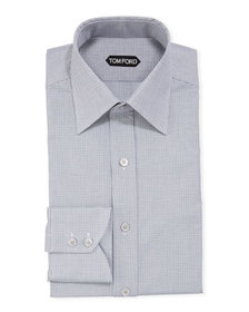 TOM FORD Men's Micro-Check Dress Shirt w/ Mother-o