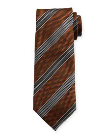 TOM FORD Men's Textured Stripe Silk Tie