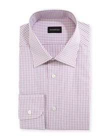 Ermenegildo Zegna Men's Check Cotton Dress Shirt