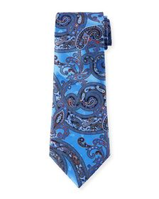 Ermenegildo Zegna Large-Scale Paisley Tie, Light B