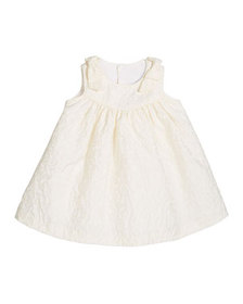 Luli & Me Girl's Ivory Dress with Bow Shoulders, S