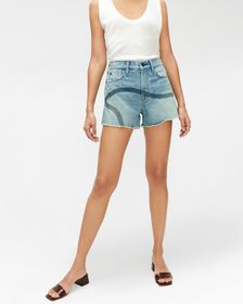 7 For All Mankind High Waist Short with Embroidery