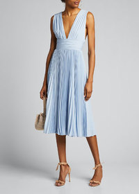 Badgley Mischka Collection Deep V-Neck Sleeveless