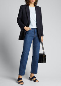 J Brand Jules High-Rise Straight Jeans