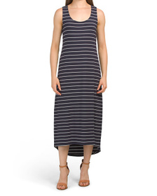 C&C CALIFORNIA Stripe Knit Midi Dress