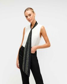 7 For All Mankind Sleeveless Tie-Neck Top in Soft