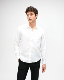 7 For All Mankind One Pocket Shirt in White