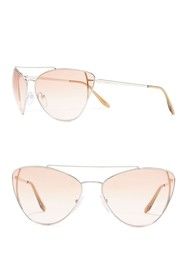Prada 68mm Cat Eye Sunglasses
