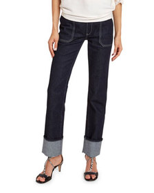 Chloe High-Rise Cuffed Jeans
