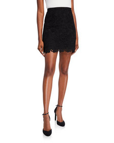 Givenchy Floral Guipure Mini Flare Skirt