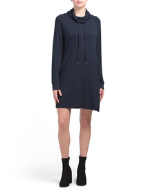 C&C CALIFORNIA Sweatshirt Dress With Cowl & Drawst