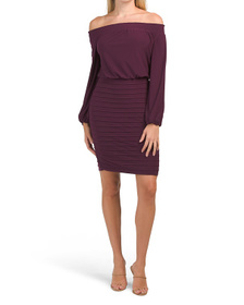 ADRIANNA PAPELL Off The Shoulder Cocktail Dress