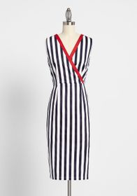 Banned Banned Yacht to Know Sleeveless Dress Navy/
