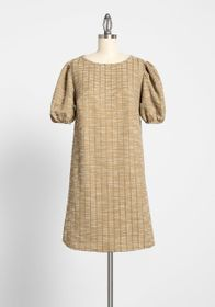 ModCloth ModCloth Chic by Week Shift Dress Gold