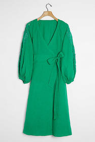 Anthropologie Ines Linen Wrap Dress