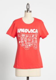 Ameowica Cats Graphic Tee Red