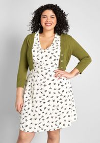 ModCloth The Dream of the Crop Cardigan Green
