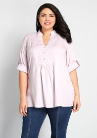 Back Road Ramble Cotton Tunic ORCHID