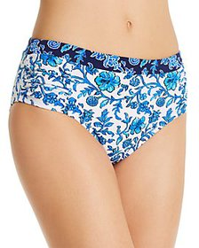 Tommy Bahama - Printed High-Waist Bikini Bottom
