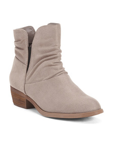 CARLOS BY CARLOS SANTANA Ruched Ankle Booties