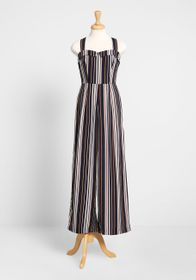 Banned Banned Stripe Hype Wide-Leg Jumpsuit Navy S