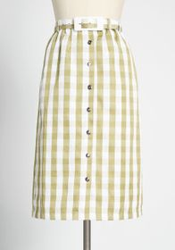 ModCloth ModCloth Past But Not Least Belted Skirt
