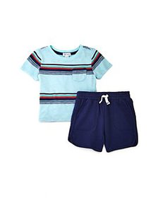 Splendid - Girls' Striped Tee & Shorts Set - Baby