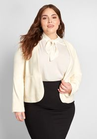 ModCloth ModCloth Timeless Tailoring Collarless Bl