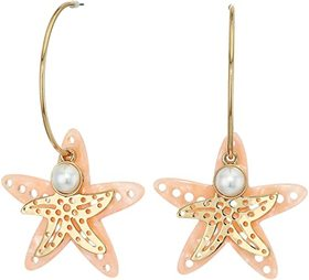 Betsey Johnson Convertible Starfish Hoop Earrings