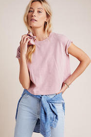 Anthropologie Sabel Cropped Tee