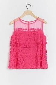 Anthropologie Shonnie Applique Tank