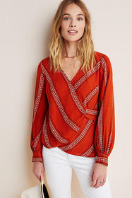Anthropologie Nora Surplice Blouse
