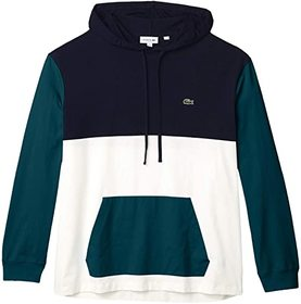 "Lacoste Long Sleeve Hooded Tee ""Color-Block"" Desig"