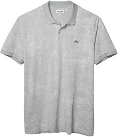 Lacoste Short Sleeve Printed Fabric with Silicone