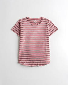 Hollister Must-Have Easy T-Shirt, PINK STRIPE