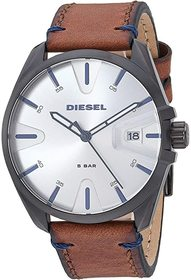 Diesel MS9 Three-Hand Leather Watch DZ1903