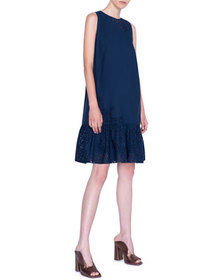 Akris punto Broderie Anglaise Dress