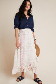 Anthropologie DOLAN Collection Mae Tie-Dye Midi Sk