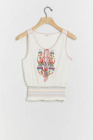 Anthropologie Katarina Embroidered Top