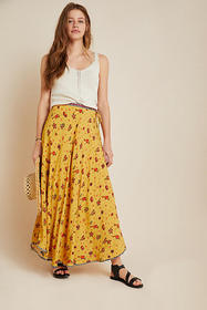 Anthropologie Paradise Shimmer Maxi Skirt