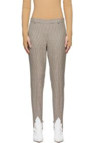 Givenchy - Brown Wool Check Stirrup Trousers